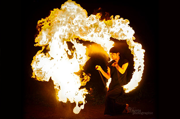 Original made fire poi