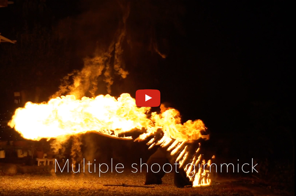Multiple shoot lycopodium fire sword